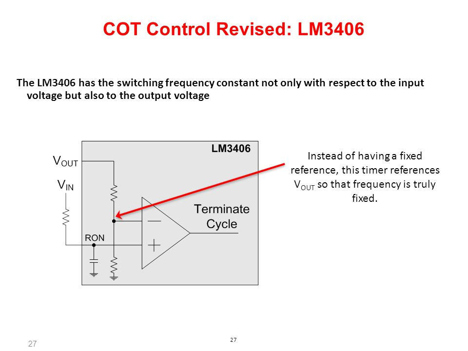 COT Control Revised: LM3406