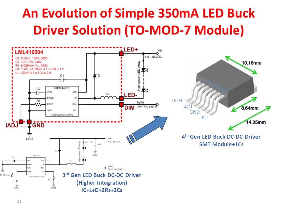 An Evolution of Simple 350mA LED Buck Driver Solution (TO-MOD-7 Module)