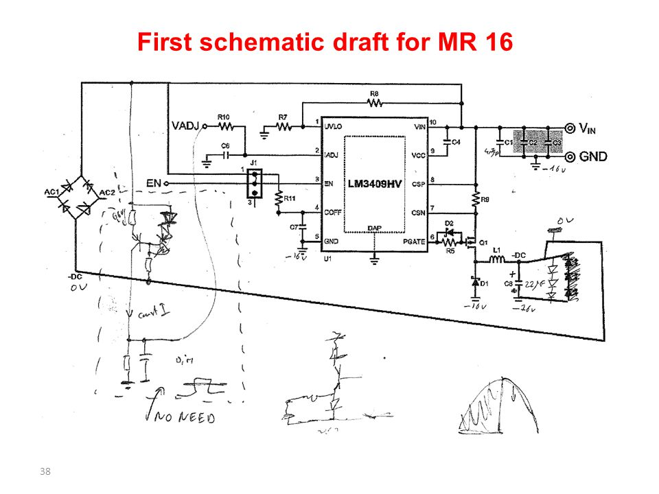 First schematic draft for MR 16