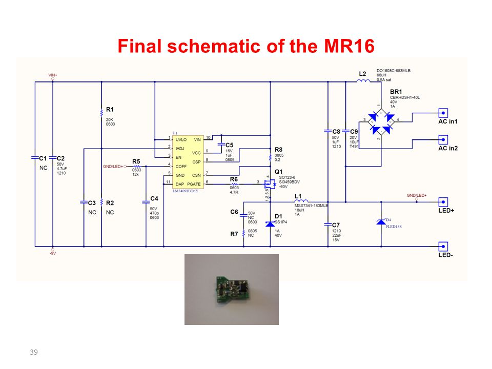 Final schematic of the MR16