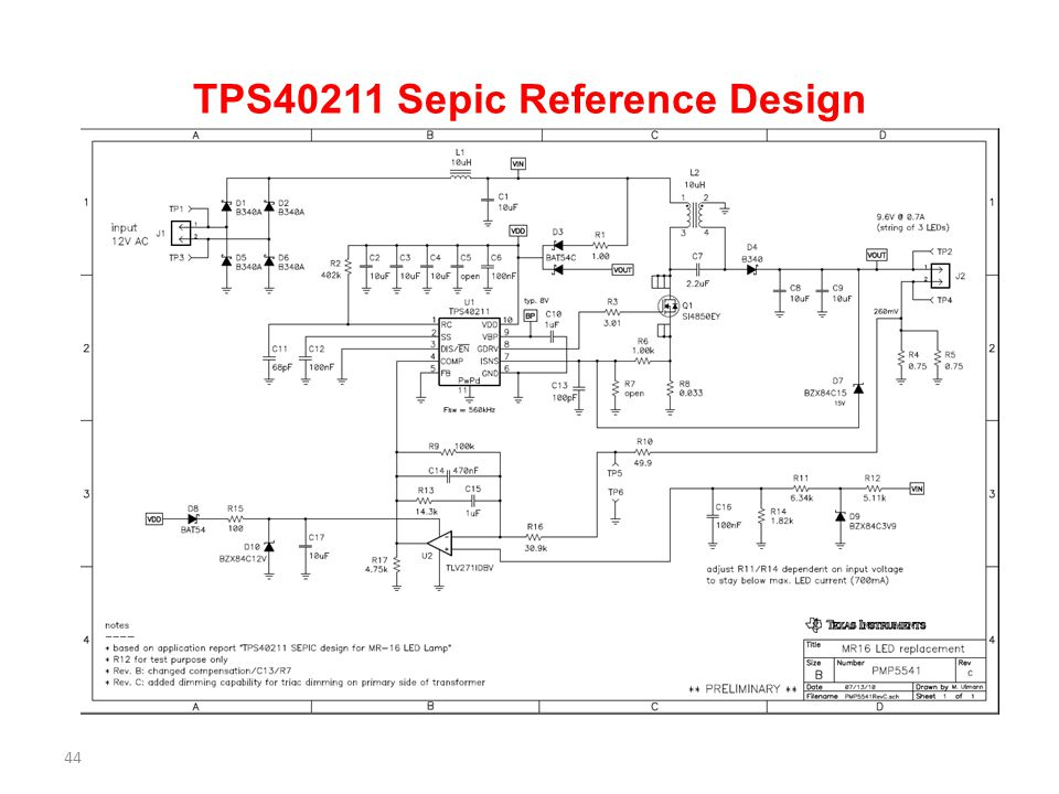 TPS40211 Sepic Reference Design