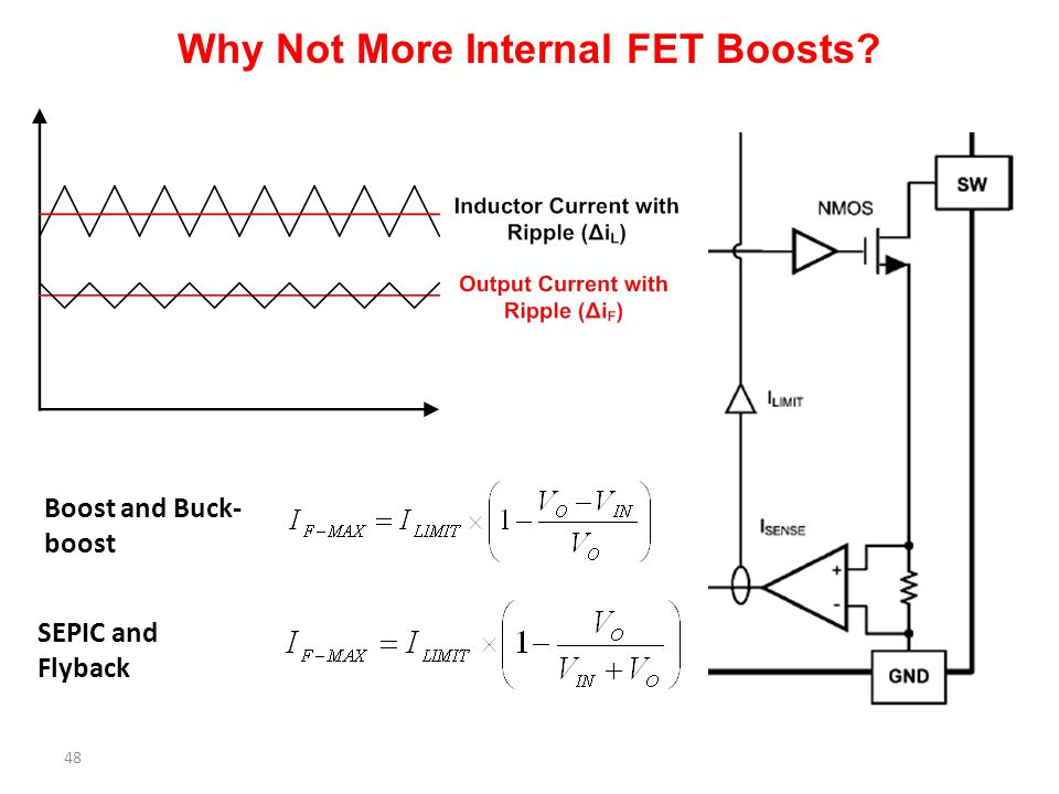 Why Not More Internal FET Boosts
