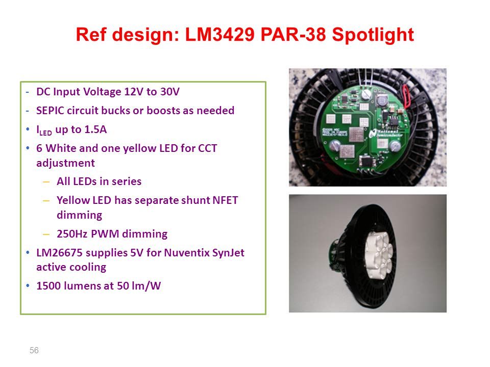 Ref design: LM3429 PAR-38 Spotlight