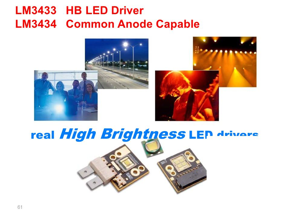LM3433 HB LED Driver LM3434 Common Anode Capable