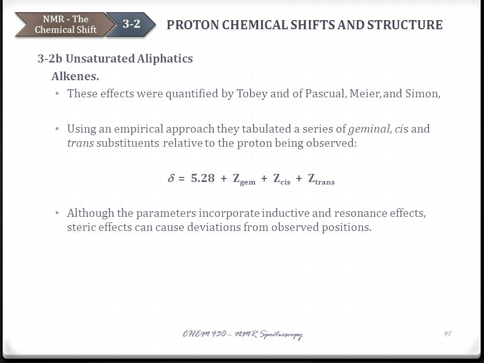 PROTON CHEMICAL SHIFTS AND STRUCTURE