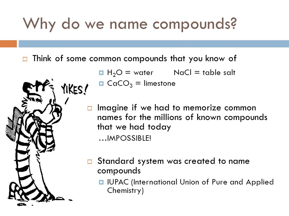 Why do we name compounds