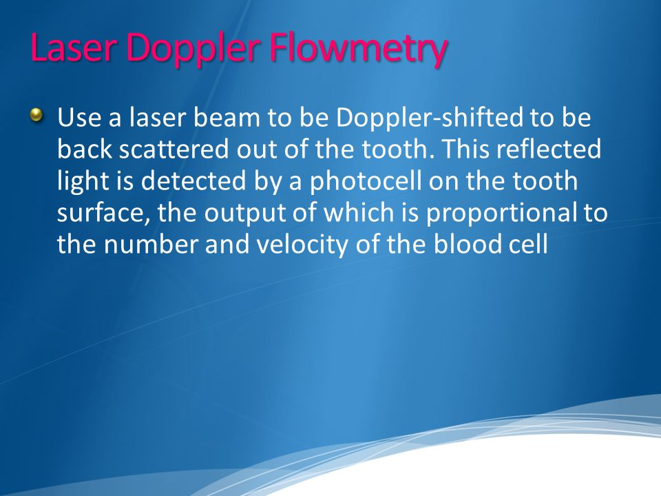 Laser Doppler Flowmetry