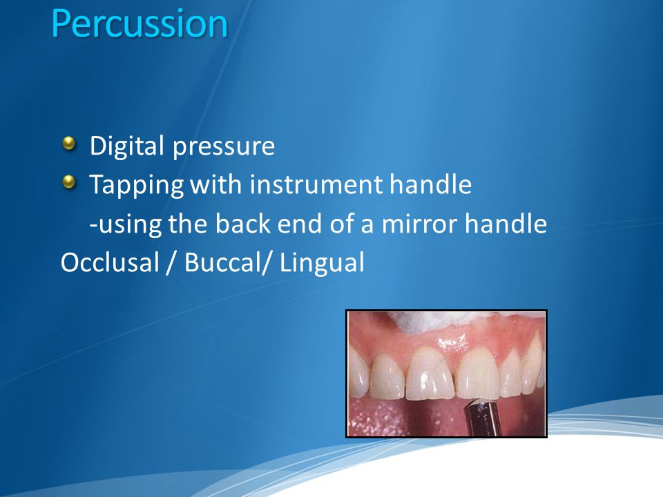 Percussion Digital pressure Tapping with instrument handle