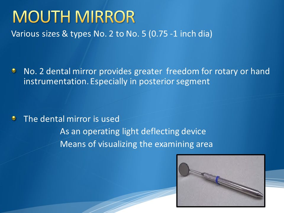MOUTH MIRROR Various sizes & types No. 2 to No. 5 (0.75 -1 inch dia)
