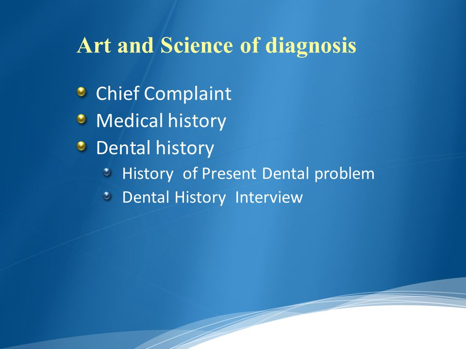 Art and Science of diagnosis