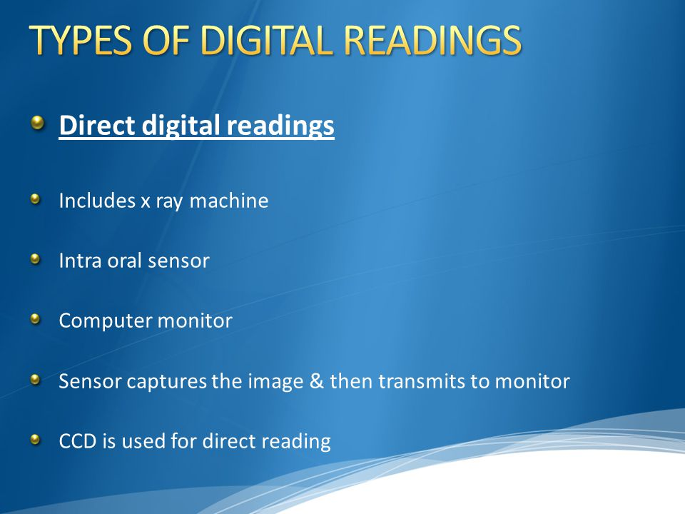 TYPES OF DIGITAL READINGS