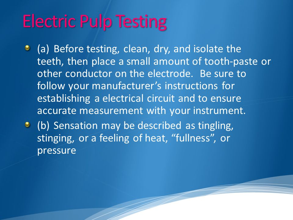 Electric Pulp Testing