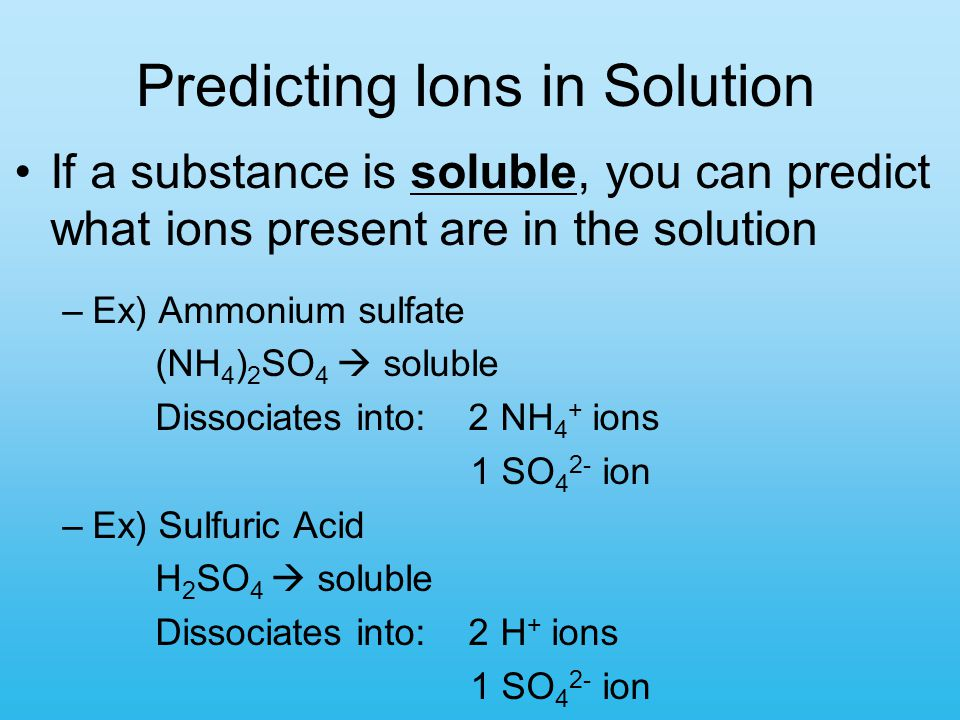 Predicting Ions in Solution