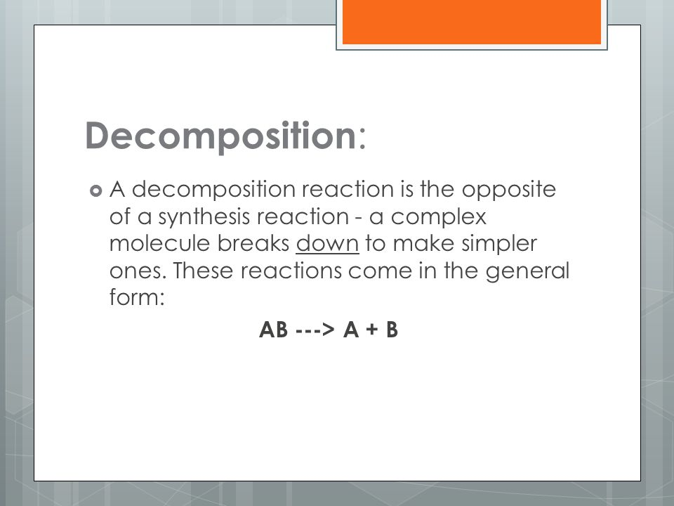 Decomposition: