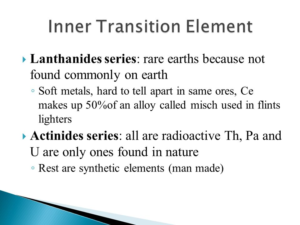 Inner Transition Element