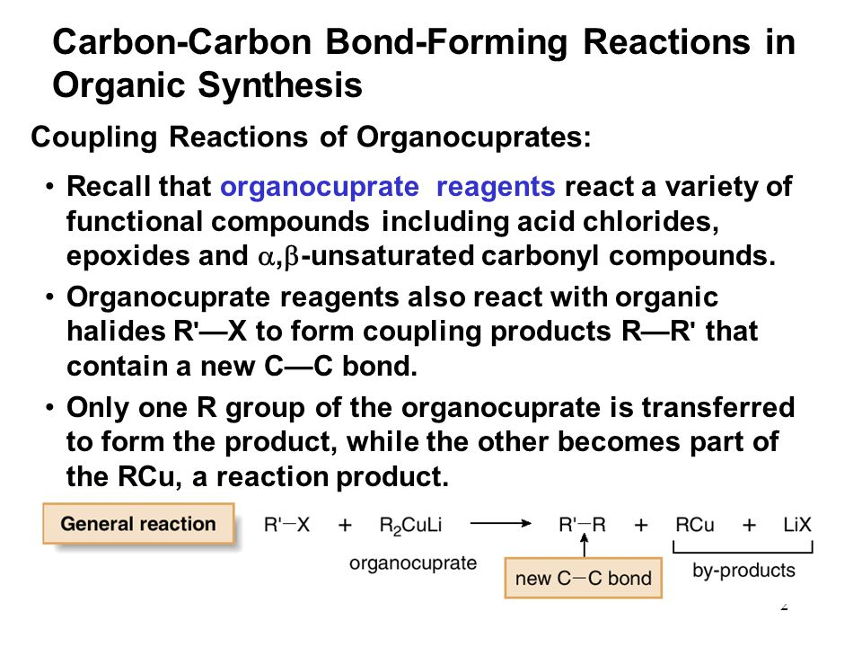 Carbon-Carbon Bond-Forming Reactions in Organic Synthesis