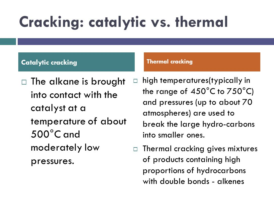 Cracking: catalytic vs. thermal