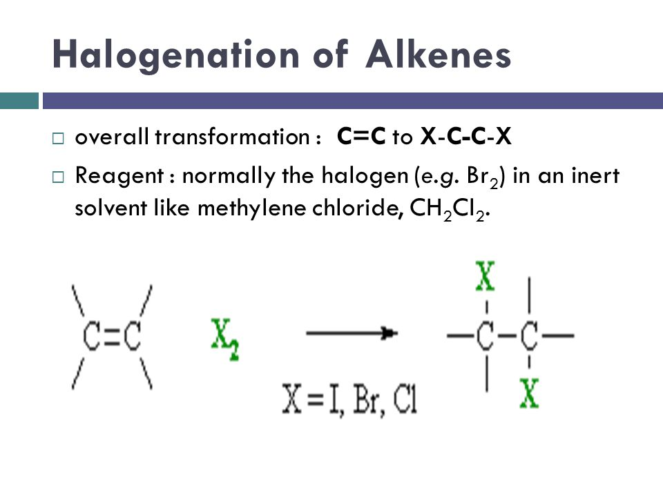 Halogenation of Alkenes