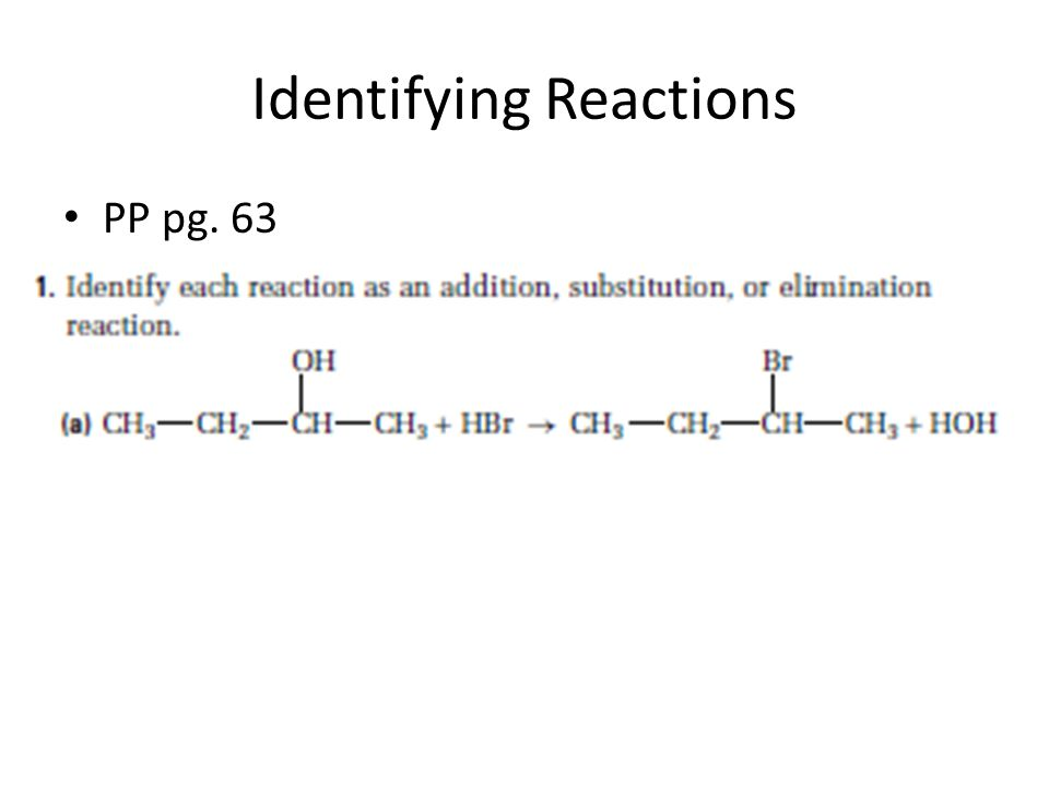 Identifying Reactions
