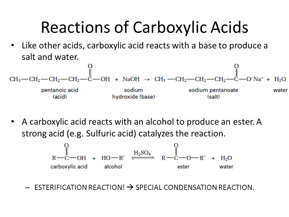 Reactions of Carboxylic Acids