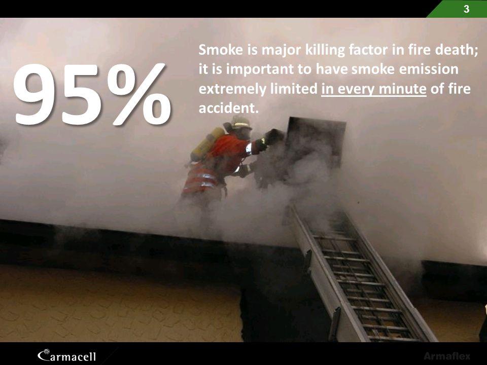95% Smoke is major killing factor in fire death;