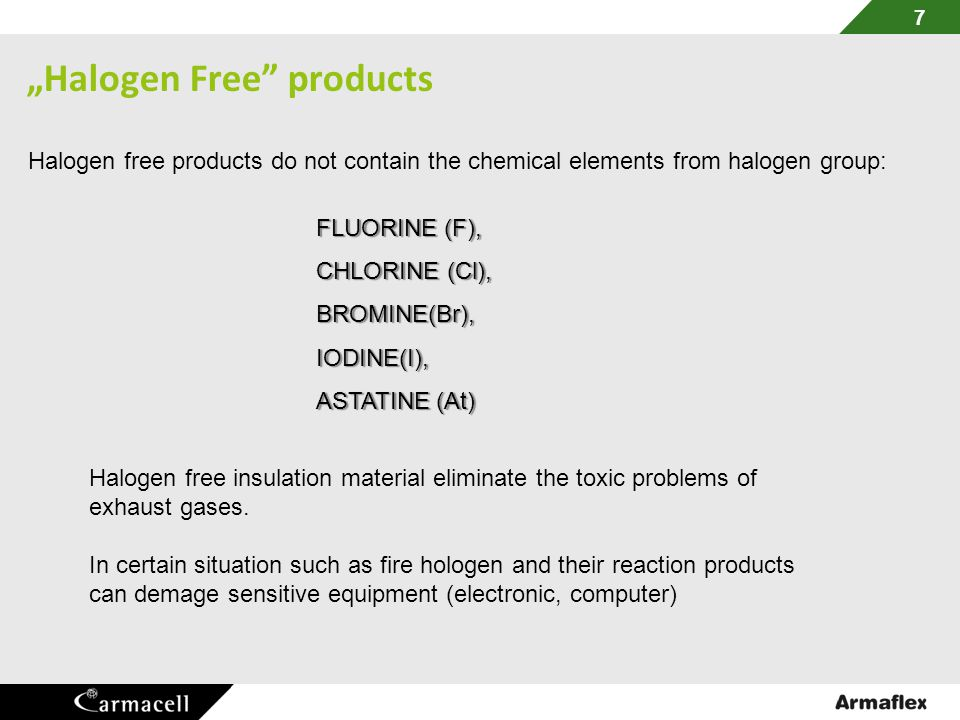 """Halogen Free products"