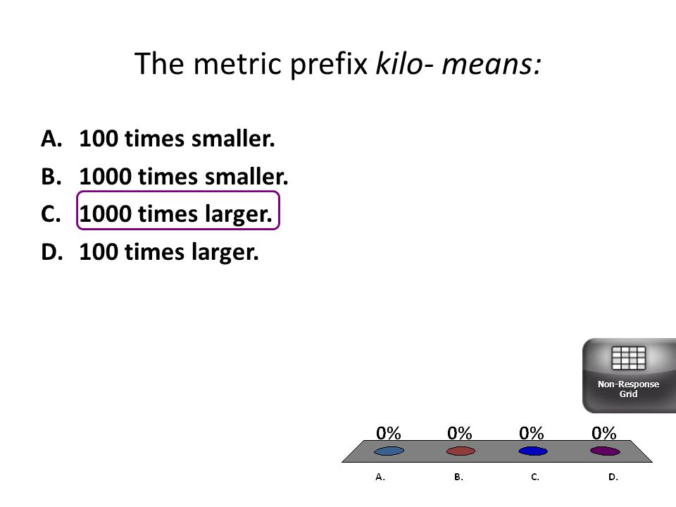 The metric prefix kilo- means: