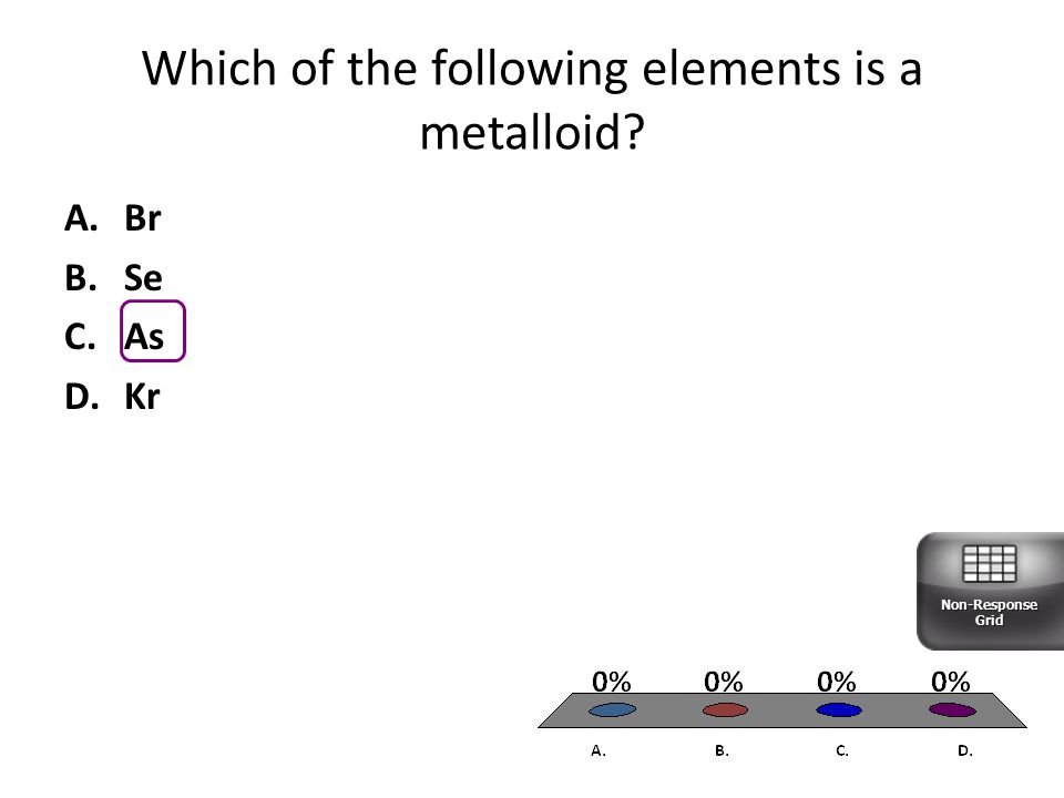 Which of the following elements is a metalloid