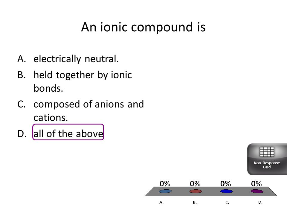 An ionic compound is electrically neutral.