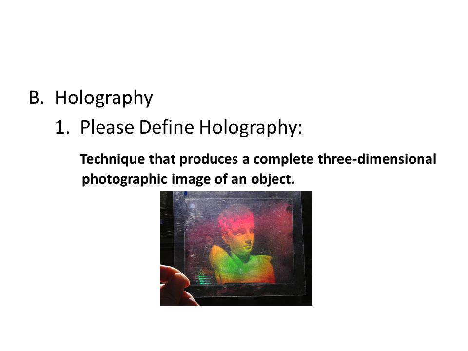 Holography 1.