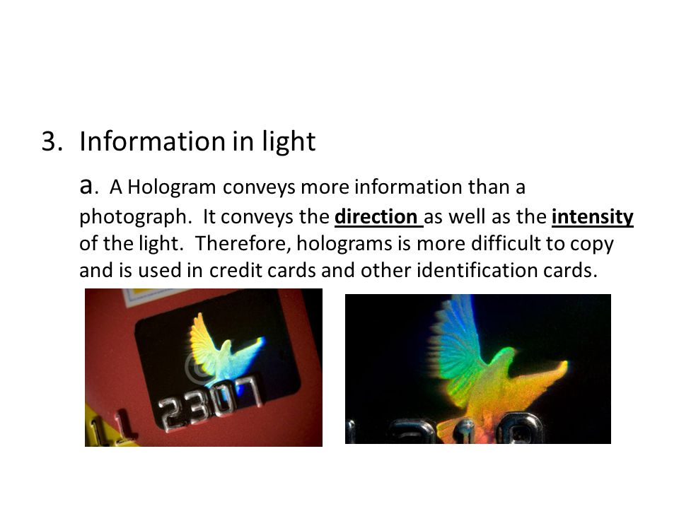 Information in light