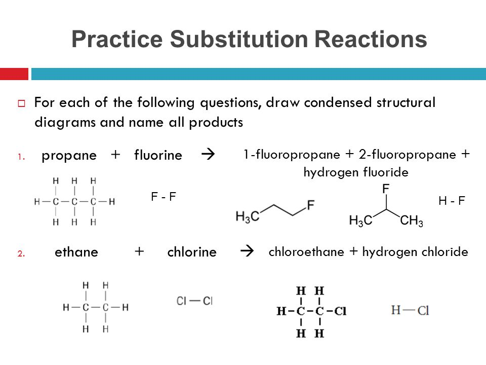 Practice Substitution Reactions