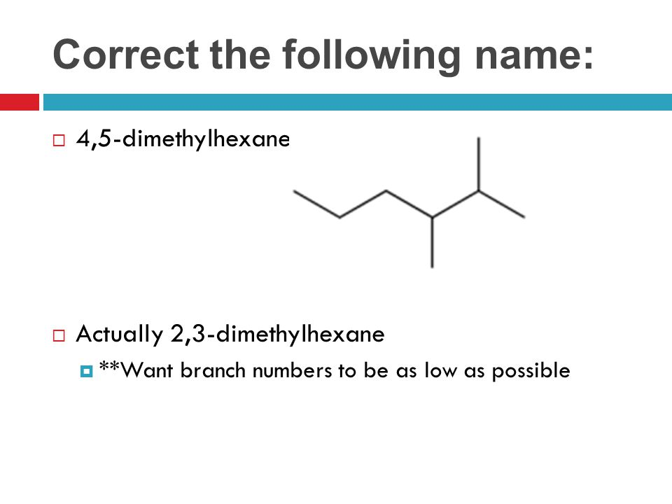 Correct the following name: