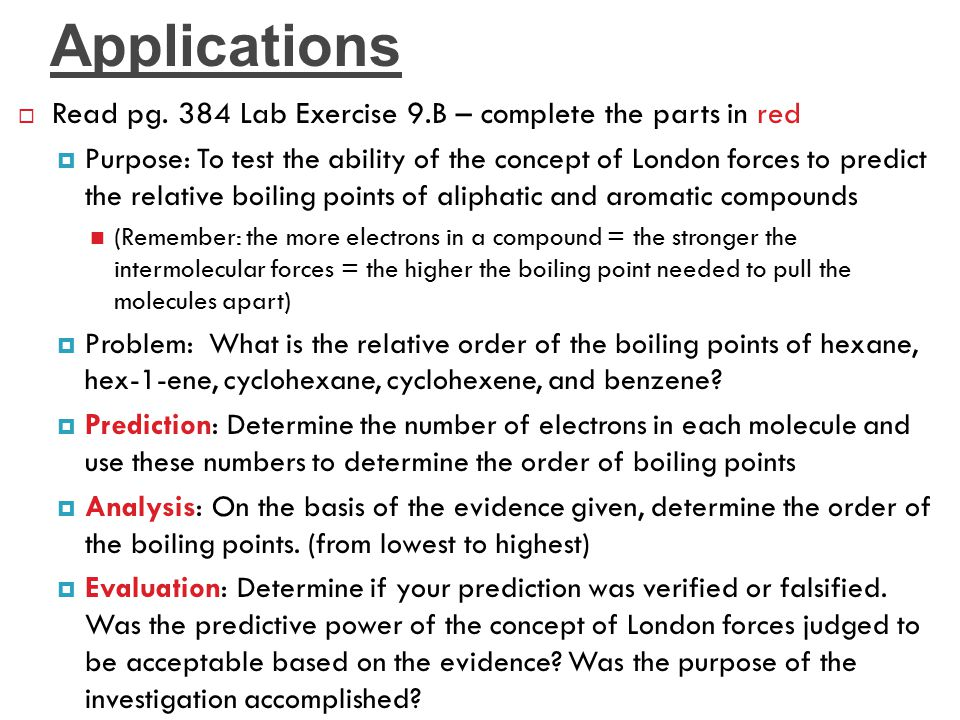 Applications Read pg. 384 Lab Exercise 9.B – complete the parts in red