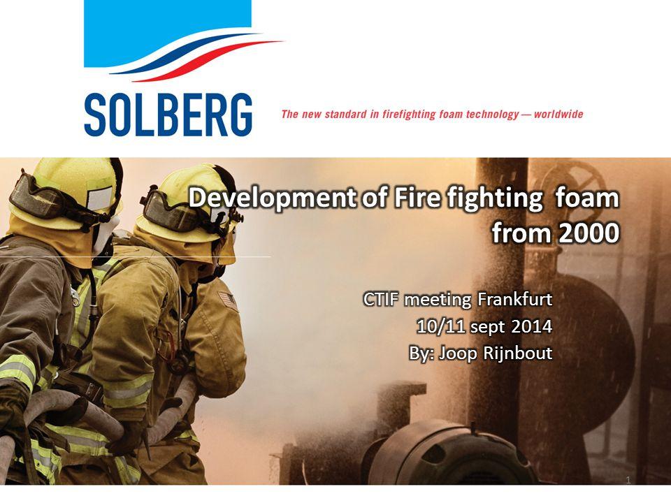 Development of Fire fighting foam from 2000