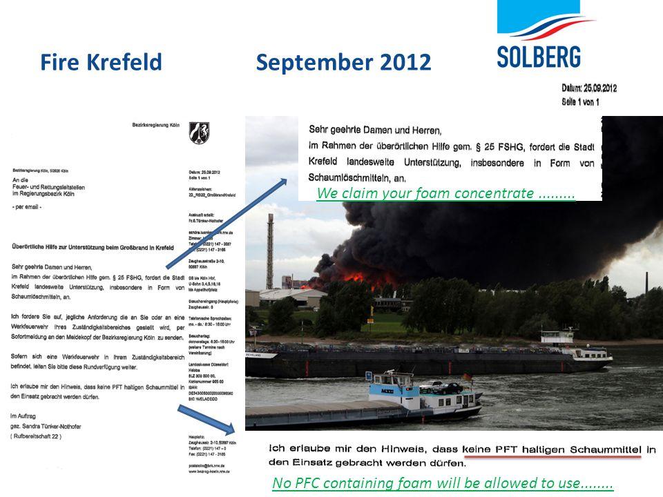 Fire Krefeld September 2012