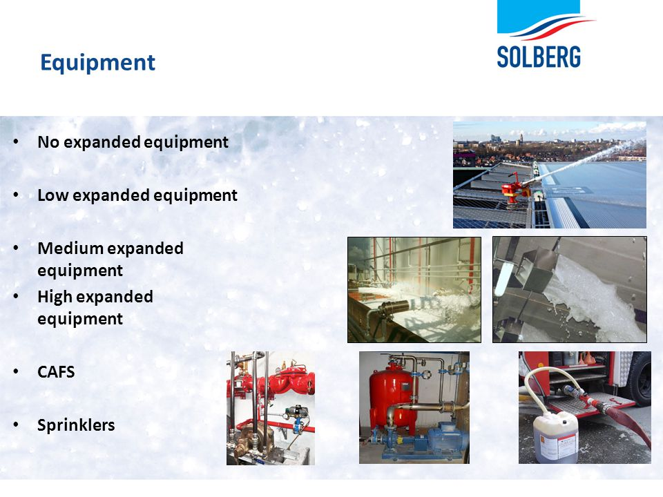 Equipment No expanded equipment Low expanded equipment