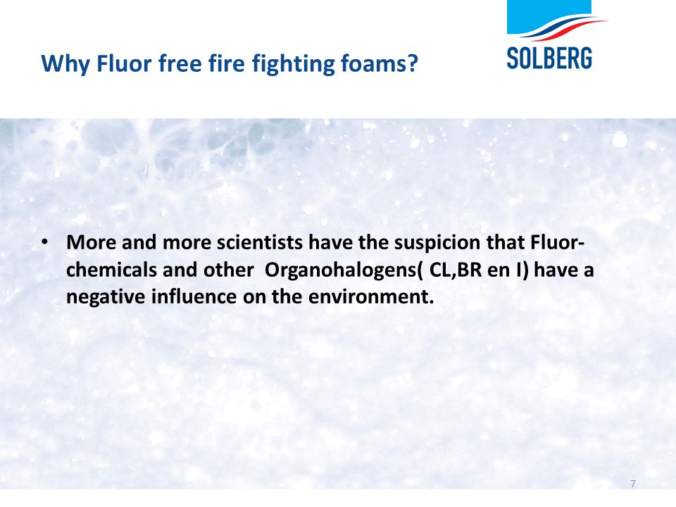 Why Fluor free fire fighting foams