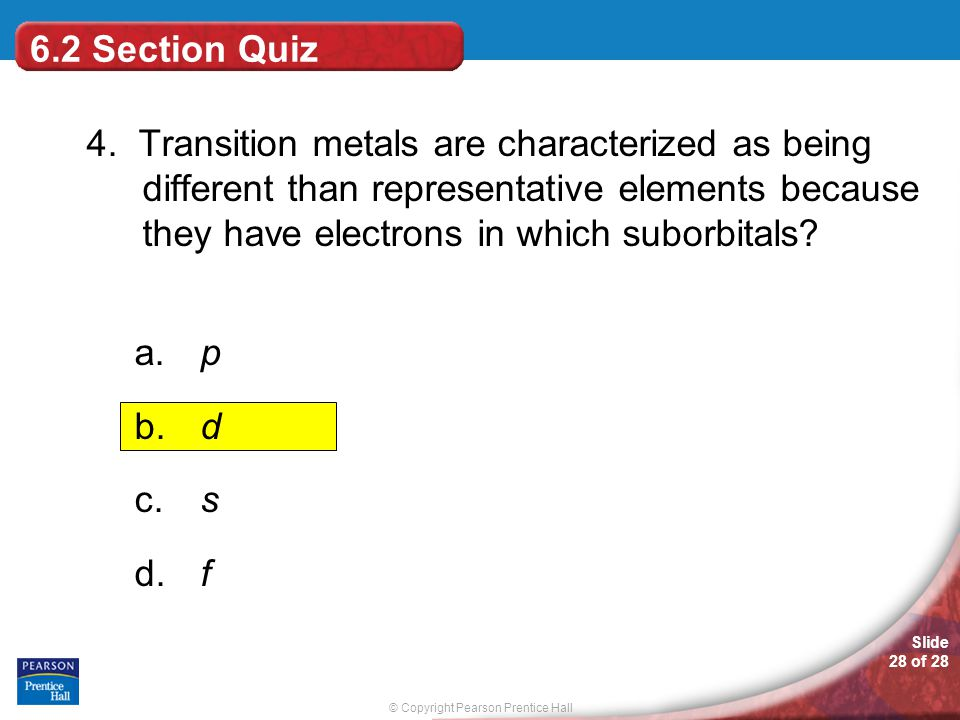 6.2 Section Quiz