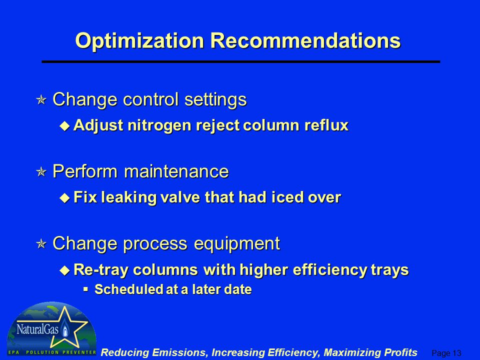 Optimization Recommendations