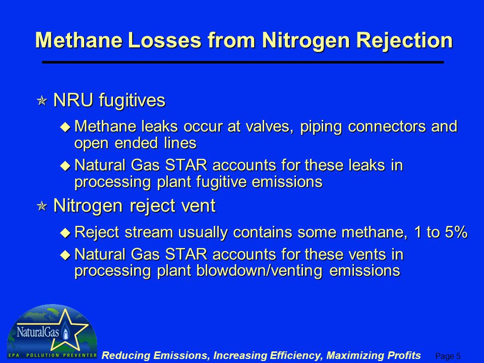Methane Losses from Nitrogen Rejection