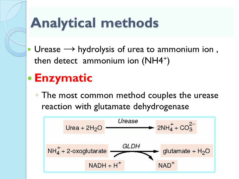 Analytical methods Enzymatic