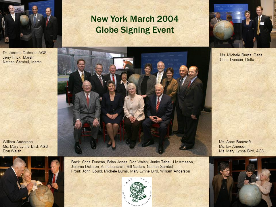 New York March 2004 Globe Signing Event