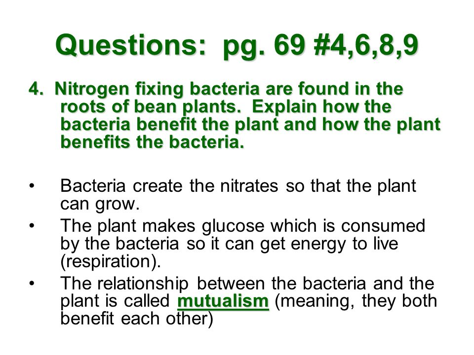 Questions: pg. 69 #4,6,8,9