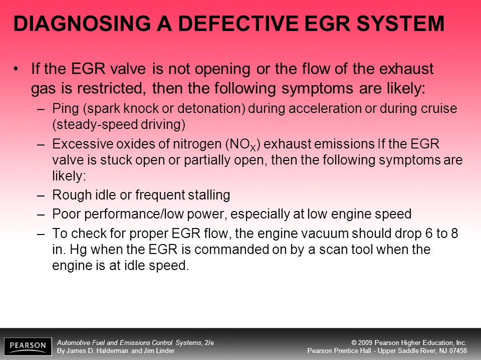 DIAGNOSING A DEFECTIVE EGR SYSTEM