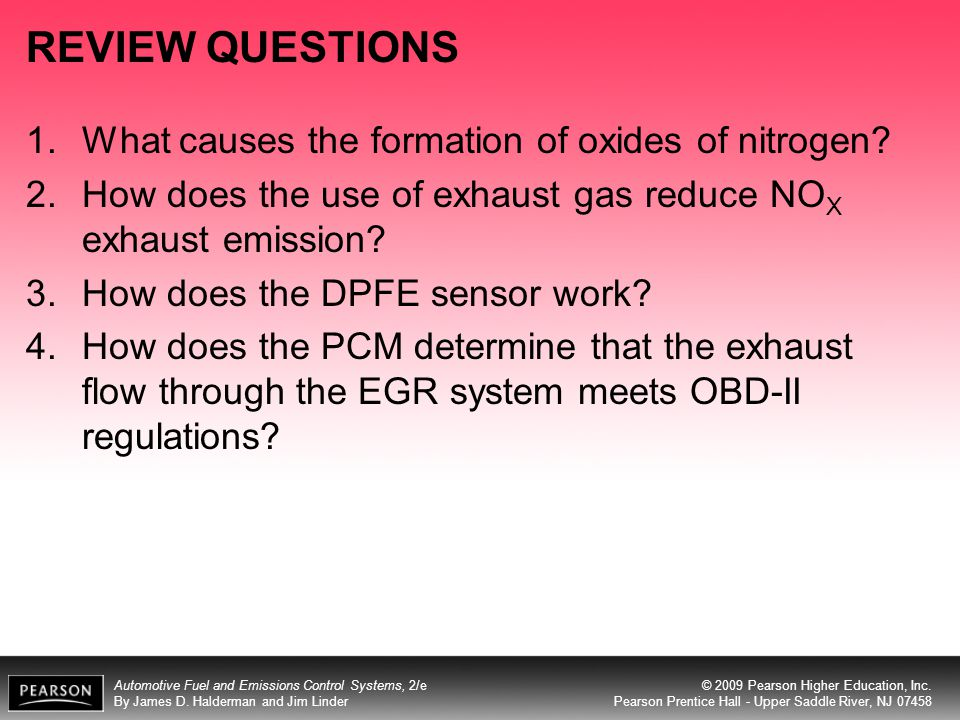 REVIEW QUESTIONS What causes the formation of oxides of nitrogen