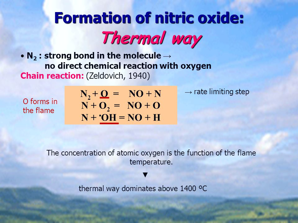 Formation of nitric oxide: Thermal way