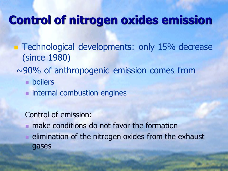 Control of nitrogen oxides emission