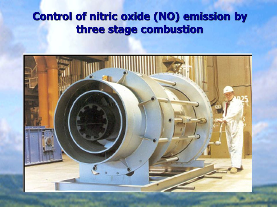 Control of nitric oxide (NO) emission by three stage combustion
