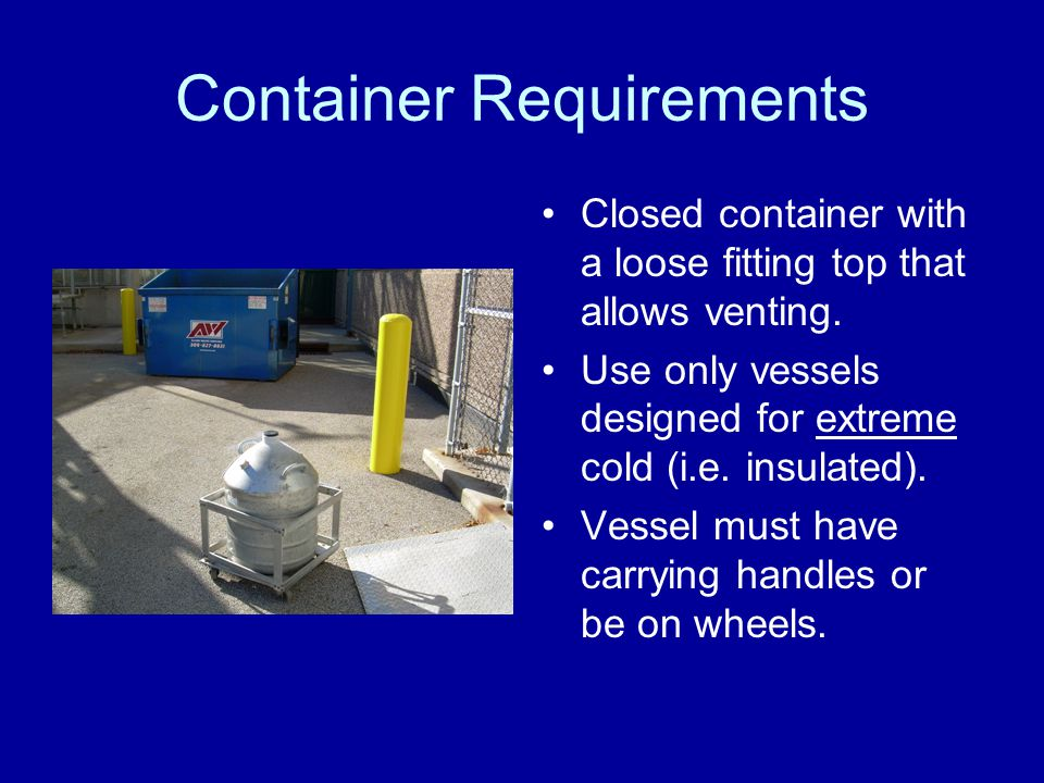 Container Requirements